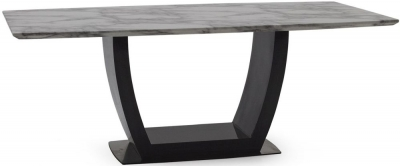 Vida Living Luciana 160cm Grey Marble Dining Table