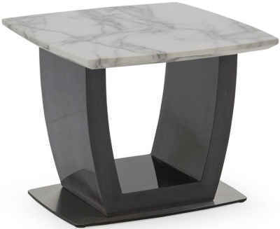 Vida Living Luciana Grey Marble End Table