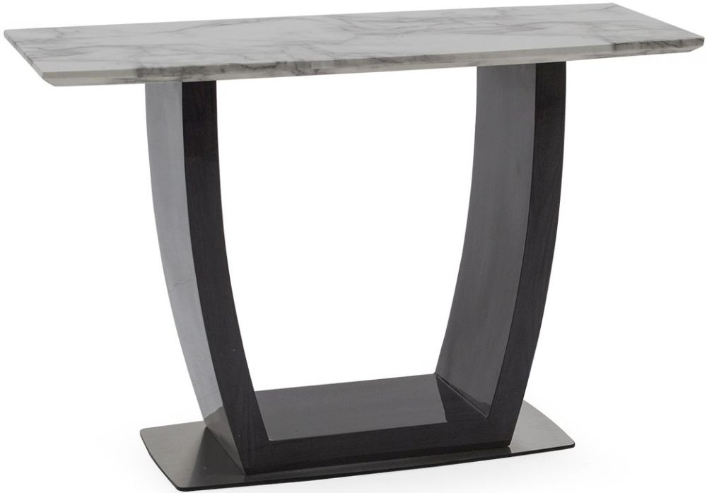 Vida Living Luciana Grey Marble Console Table
