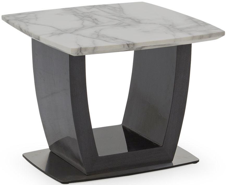 Vida Living Luciana Grey Marble End Table