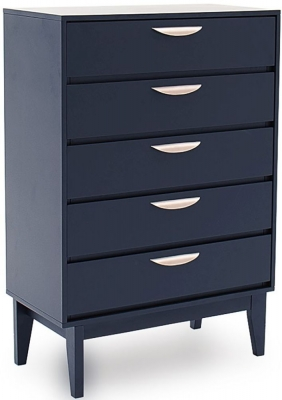 Vida Living Luna Blue 5 Drawer Tall Chest