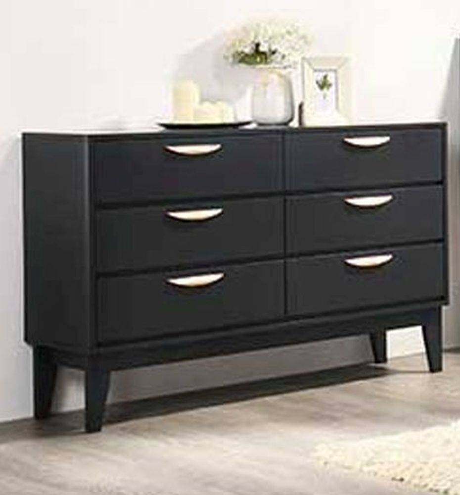 Vida Living Luna Blue 6 Drawer Chest