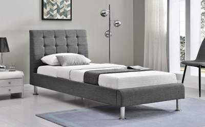 Vida Living Lyra Charcoal Fabric Bed