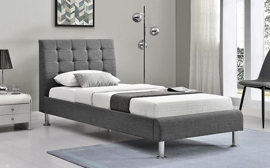 Vida Living Lyra Charcoal Bed