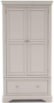 Vida Living Mabel Taupe Painted 2 Door Wardrobe