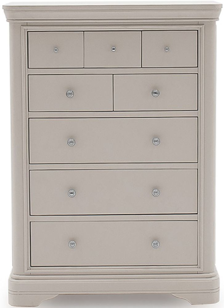 Vida Living Mabel Taupe 3+5 Drawer Tall Chest