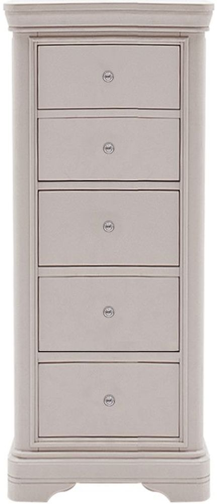 Vida Living Mabel Taupe 5 Drawer Tall Chest