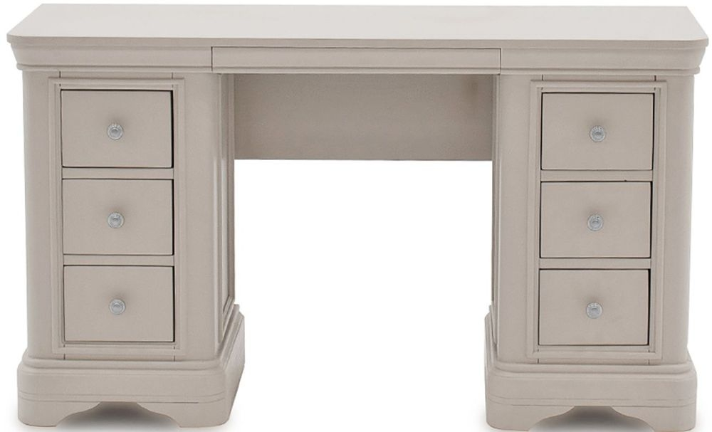 Product photograph showing Vida Living Mabel Taupe Dressing Table
