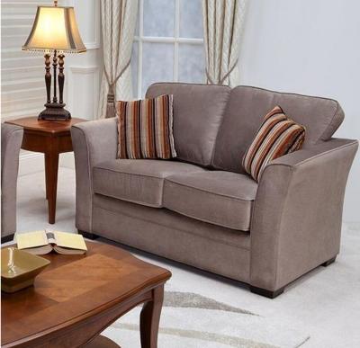 Vida Living Madison 2 Seater Fabric Fixed Sofa - Mocha