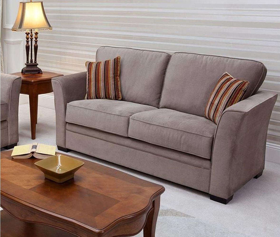 Vida Living Madison 3 Seater Fabric Fixed Sofa - Mocha