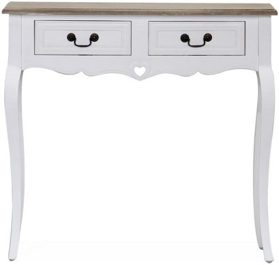 Vida Living Maeve Console Table - White and Mindi Veneer