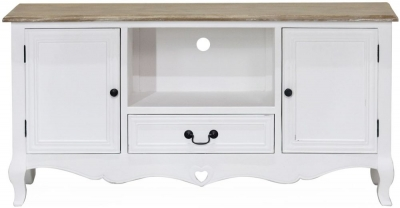Vida Living Maeve TV Unit - White and Mindi Veneer