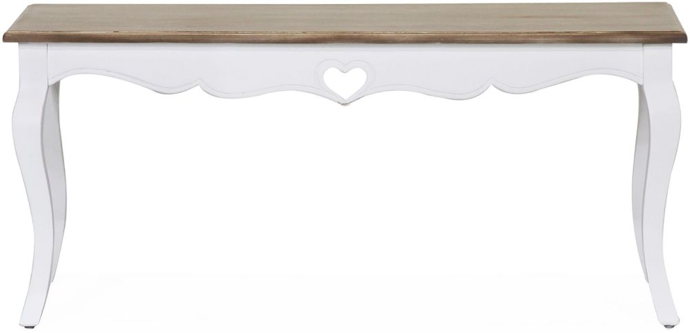 Vida Living Maeve Coffee Table - White and Mindi Veneer