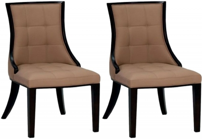 Vida Living Marcello Faux Leather Dining Chair - Beige (Pair)
