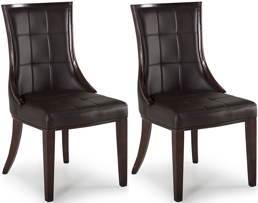Vida Living Marcello Brown Faux Leather Dining Chair (Pair)