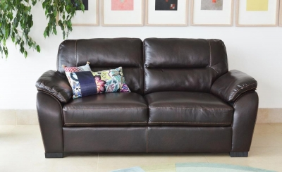 Vida Living Matteo 3 Seater Pellaria Fixed Sofa - Brown
