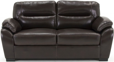 Vida Living Matteo Brown Pellaria 3 Seater Fixed Sofa