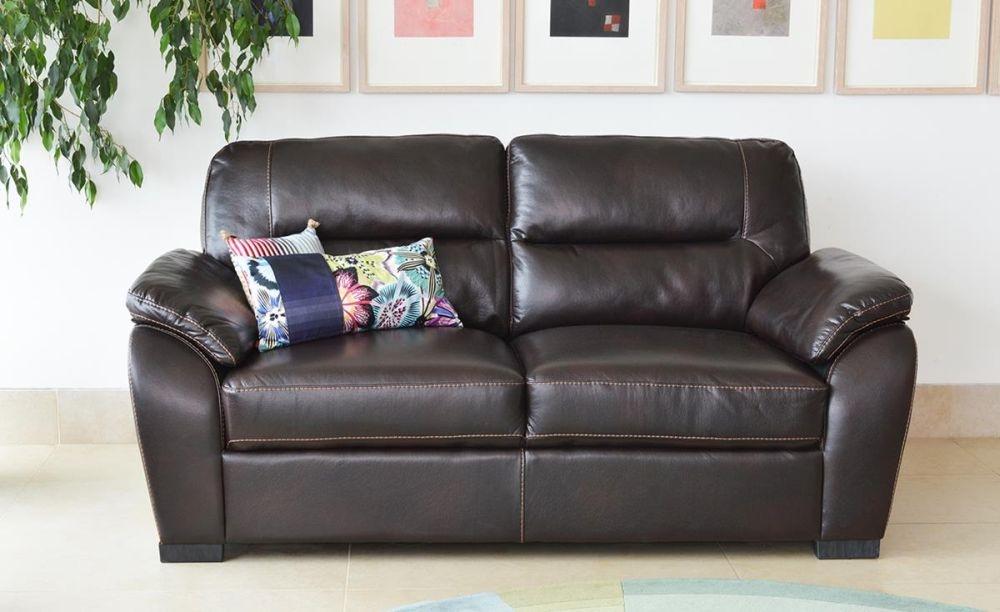 Vida Living Matteo 3 Seater Pellaria Fixed Sofa - Brown