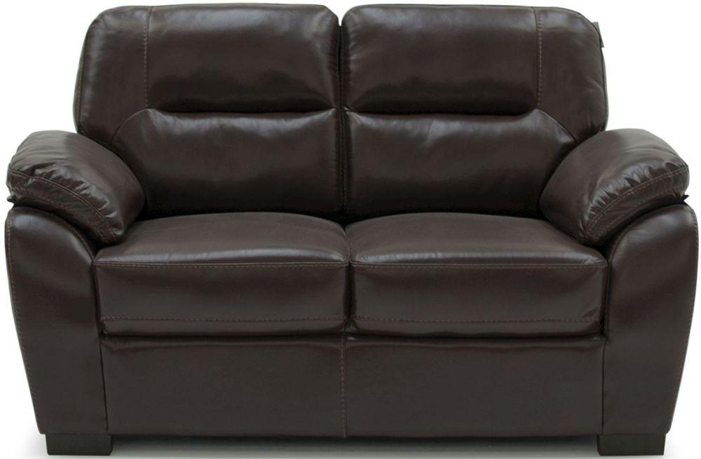 Vida Living Matteo Brown 2 Seater Fixed Pellaria Sofa