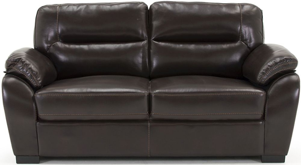 Vida Living Matteo Brown 3 Seater Fixed Pellaria Sofa