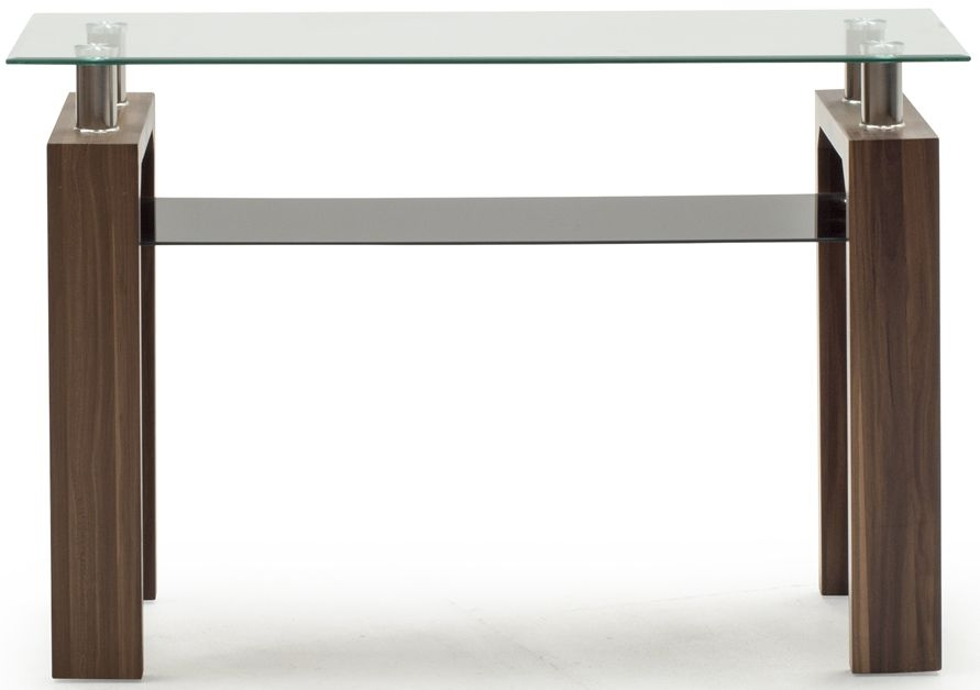 walnut console table. Vida Living Maya Walnut And Glass Console Table