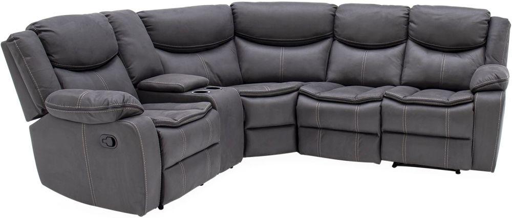 Vida Living Merryn Azul Fabric Left Hand Facing Sofa