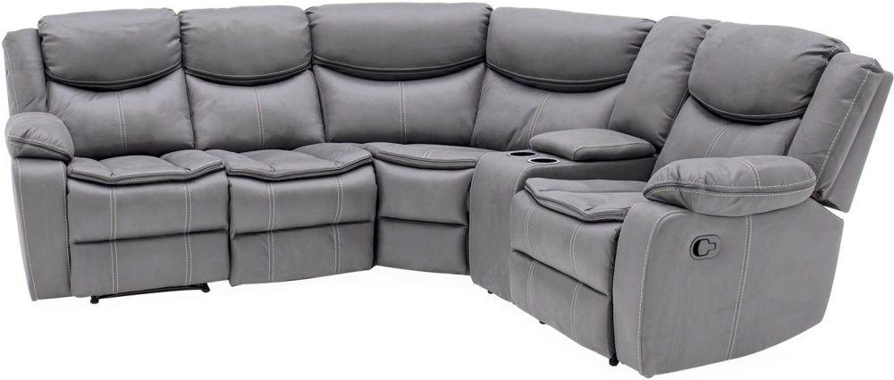 Vida Living Merryn Grey Fabric Right Hand Facing Sofa