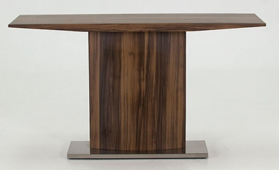 Vida Living Messina Walnut Console Table - Steel Base