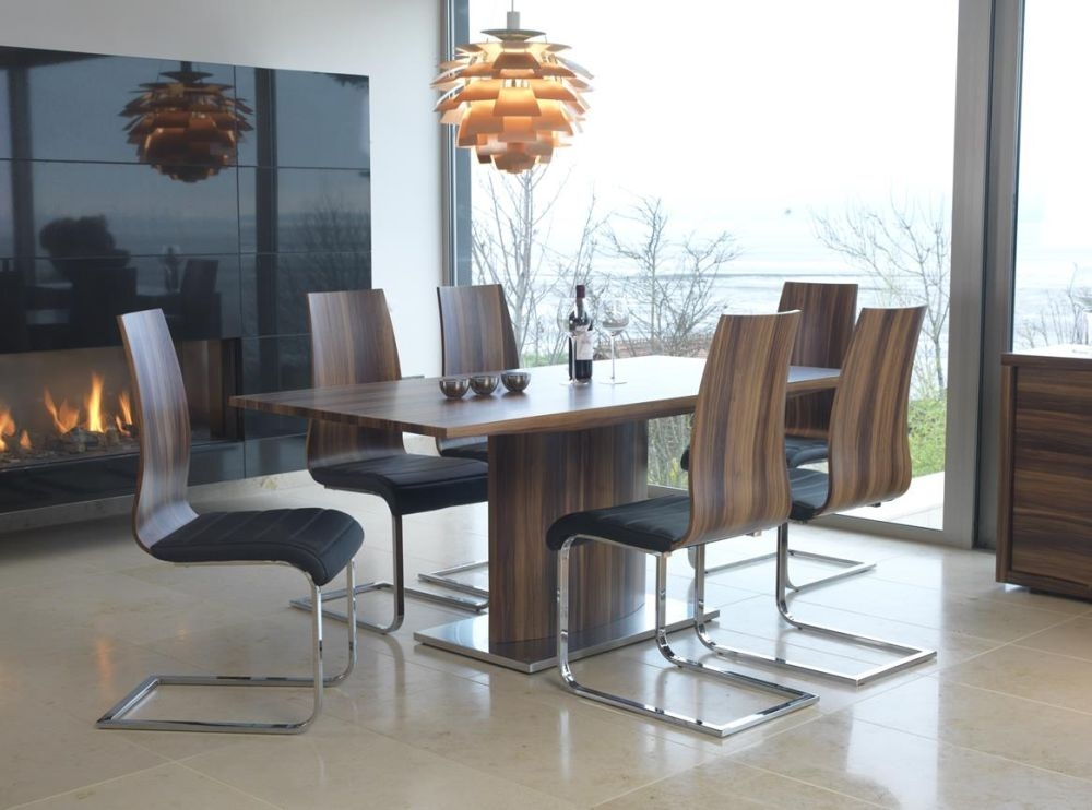 Vida Living Messina Walnut Dining Set with 6 Chairs