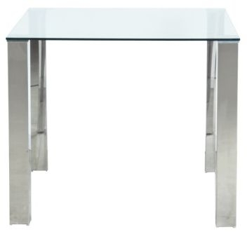 Vida Living Mezzi Glass Square Fixed Top Dining Table - 90cm