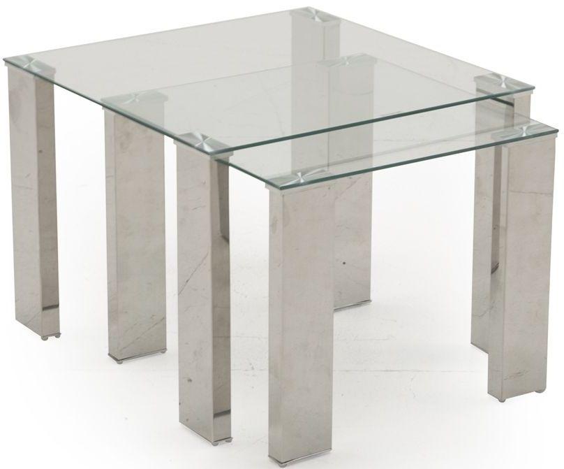Buy vida living mezzi glass nest of tables online cfs uk vida living mezzi glass nest of tables watchthetrailerfo