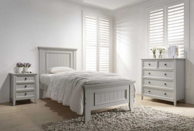 Vida Living Mila Clay Painted Panelled Bed
