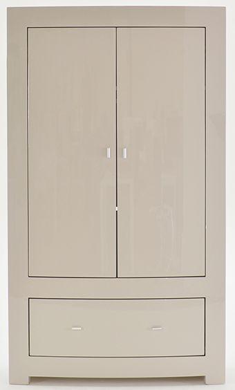Vida Living Mirelle Grey Gloss Wardrobe - 2 Door 1 Drawer