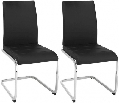 Vida Living Mobo Black Faux Leather Dining Chair - (Pair)