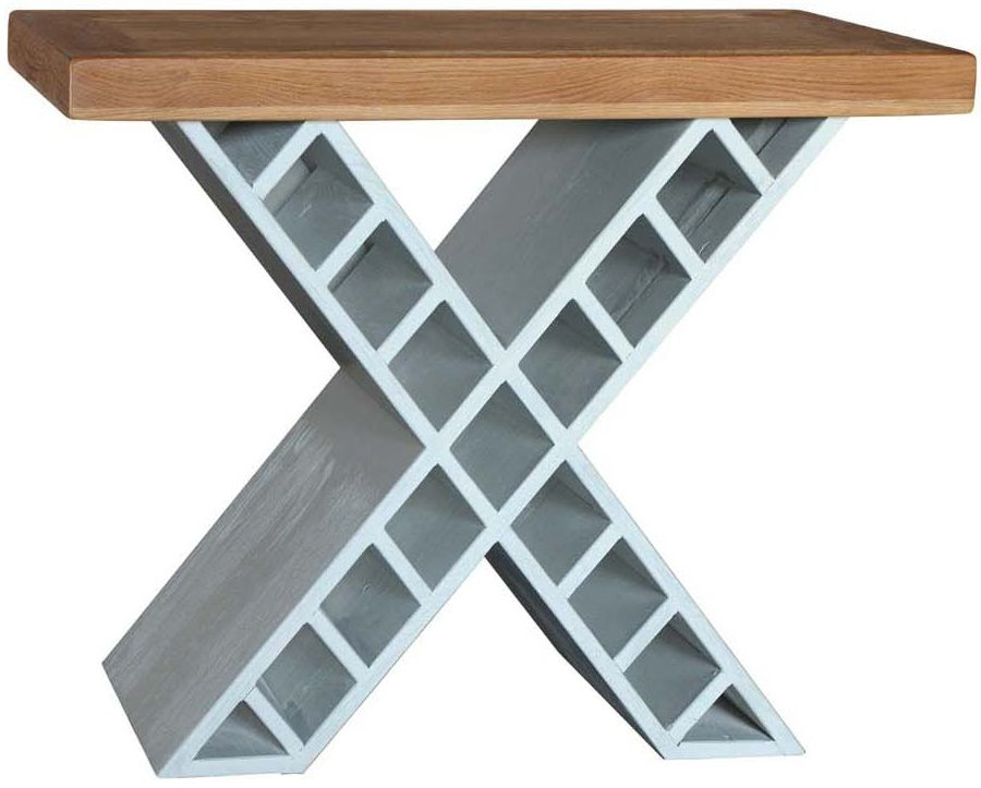 Vida Living Monroe Console Table - Oak and Grey Painted