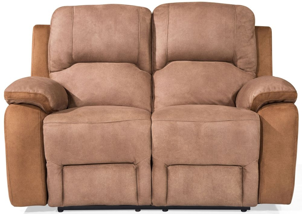 Vida Living Monterray Brown Fabric 2 Seater Recliner Sofa