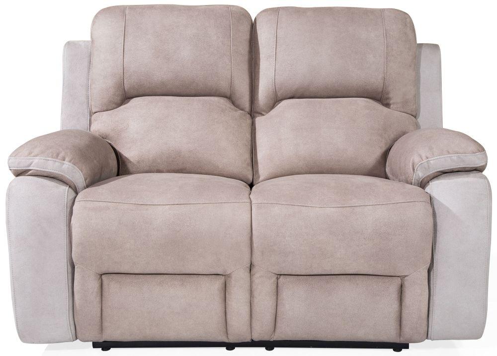 Vida Living Monterray Grey Fabric 2 Seater Recliner Sofa