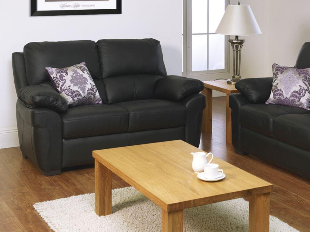 Vida Living Monzano 2 Seater Fixed Sofa - Black