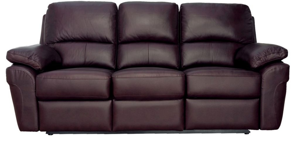 Vida Living Monzano 3 Seater Recliner Sofa - Chestnut Brown