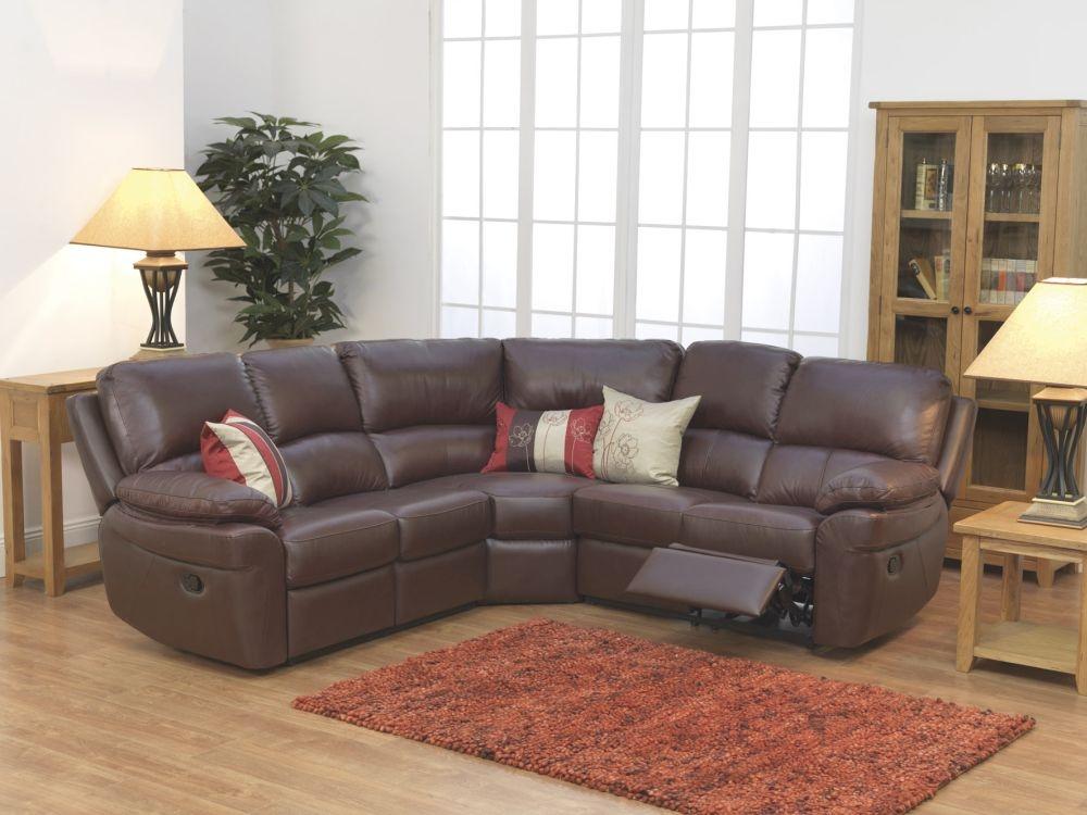 Vida Living Monzano Corner Group Sofa - Chestnut Brown