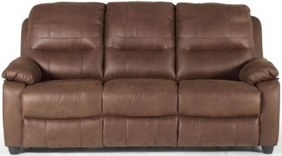 Vida Living Morley Dark Brown Fabric Fixed 3 Seater Sofa