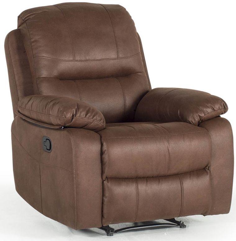 Vida Living Morley Dark Brown Fabric 1 Seater Recliner Armchair