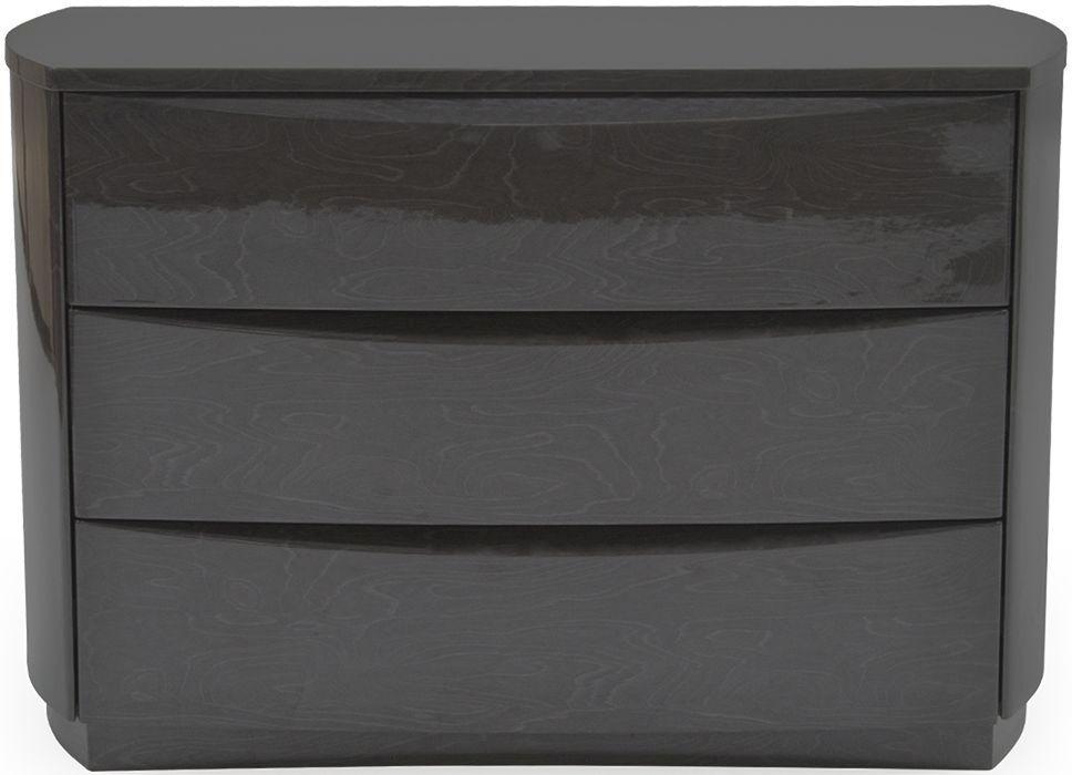 Buy Vida Living Movada Grey High Gloss 3 Drawer Dresser
