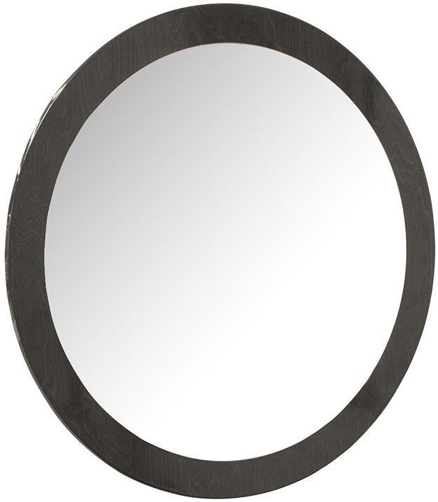 Vida Living Movada Grey High Gloss Oval Mirror - 90cm x 90cm
