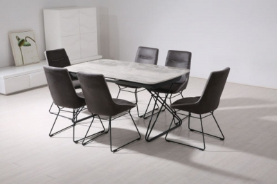 Vida Living Nero Grey Dining Table