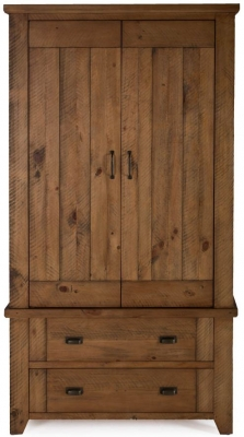 Vida Living New Forest Reclaimed Pine 2 Door Wardrobe