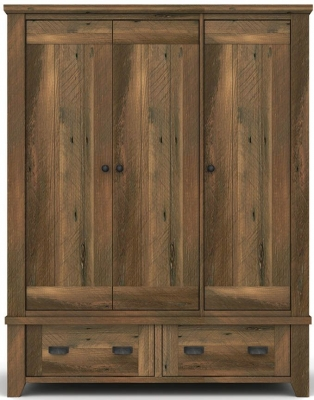 Vida Living New Forest Reclaimed Pine 3 Door Wardrobe