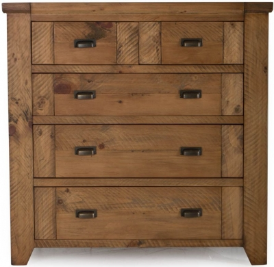 Vida Living New Forest Reclaimed Pine 5 Tall Chest of Drawer