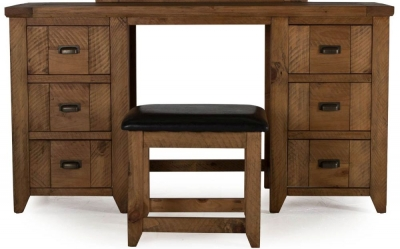 Vida Living New Forest Reclaimed Pine Knee Hole Dressing Table