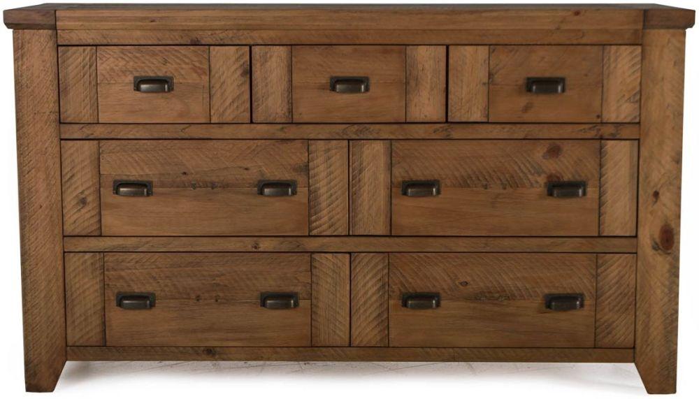 Vida Living New Forest Reclaimed Pine 7 Drawer Dresser